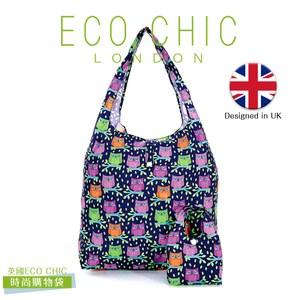 英國ECO CHIC時尚可折疊購物袋-貓頭鷹X2