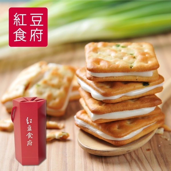 預購《紅豆食府》團圓原味蔥軋餅(126g/盒,共四盒)
