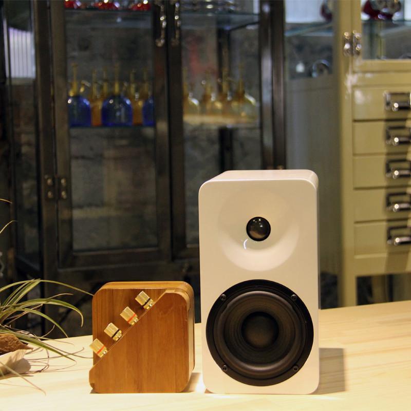 repop 藍芽攜帶式擴大機 + min16 被動喇叭兩支(奶油黃)