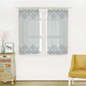 モロッコ 軽い薄い レースカーテン 幅100cm×丈108cm 2枚組 装飾ホーム、ウインドウ窓 東部民族スタイルのモダンなデザインは 2つの異なる色の装飾