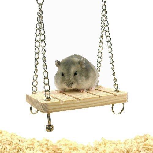 CARNO《倉鼠樓梯45-0324/原木鈴鐺小鞦韆45-0325》倉鼠適用『WANG』