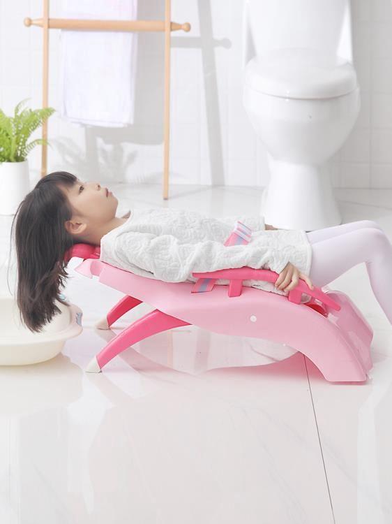加厚兒童洗頭躺椅寶寶洗頭神器小孩洗頭床可摺疊家用洗發椅加大號