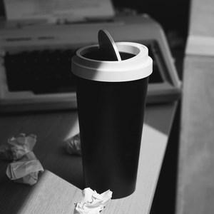 QUALY|迷你隨行杯-垃圾桶-黑