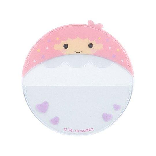 小禮堂 雙子星LALA 造型透明徽章保護套組《3入.粉紫》胸章收納套.演唱會粉絲收納系列