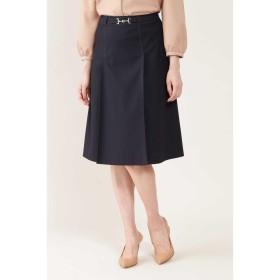 ◆トリコットステッチポイントスカート NATURAL BEAUTY○0189220810 ネイビー スカート
