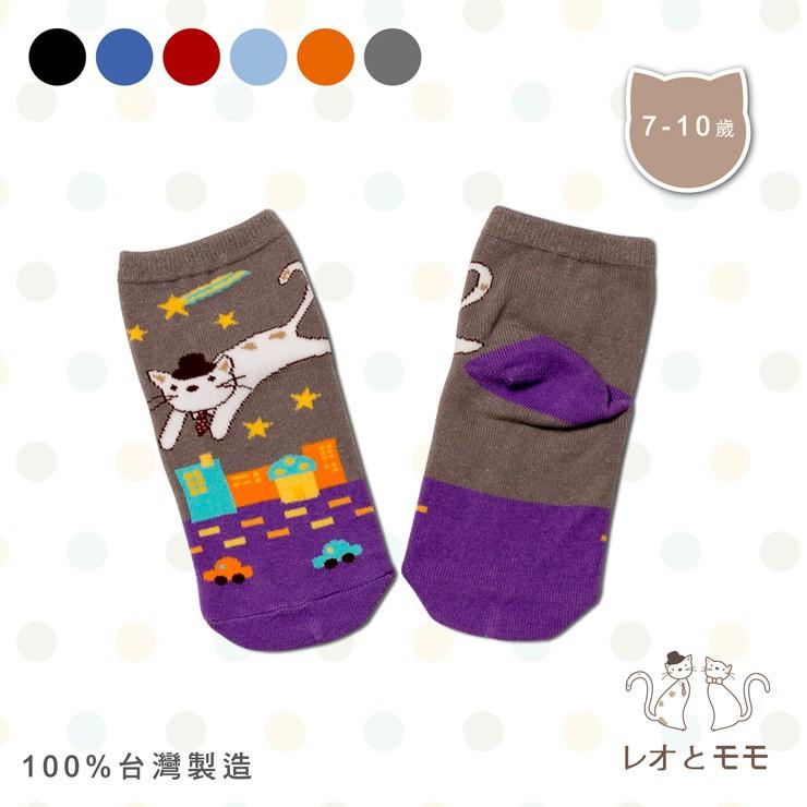 情侶貓 電腦織花直版童襪 - LM811(共6色)【YS SHOP】