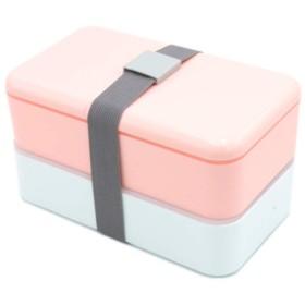 1000mlの二重層のお弁当箱の食糧容器の電子レンジの弁当箱、ピンク