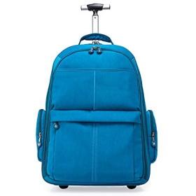 ローリングバックパック、旅行用防水・カレッジホイルラップトップバックパック、持込みトロリー荷物スーツケースコンパクト学校の学生コンピュータバッグは、15.6インチのノートブックに合います,A