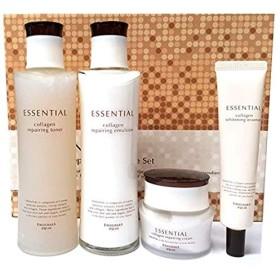 クワイナラエッセンシャルコラーゲンリペアスキンケアセット Collagen Repairing Skincare Set(トナー185ml +エマルジョン185ml +クリーム60g +エッセンス40ml)韓国の人気スキンケアセット