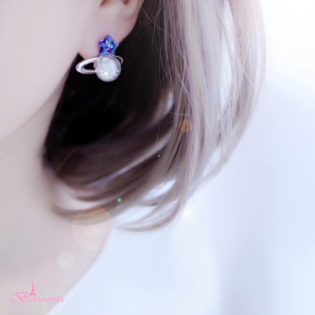 韓國氣泡行星 925銀針 耳環【Bonjouracc】