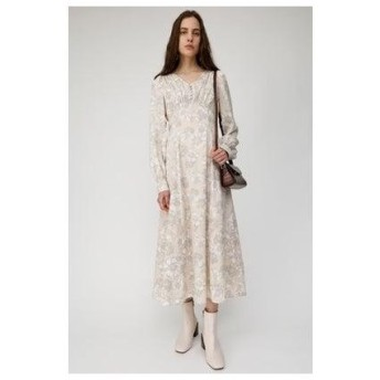 マウジー moussy MONOTONE FLOWER DRESS (ベージュ)