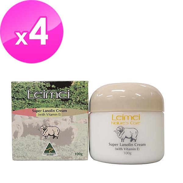 【澳洲Natures Care】Leimei 超滋潤綿羊霜含維他命E 100gx4入組-網
