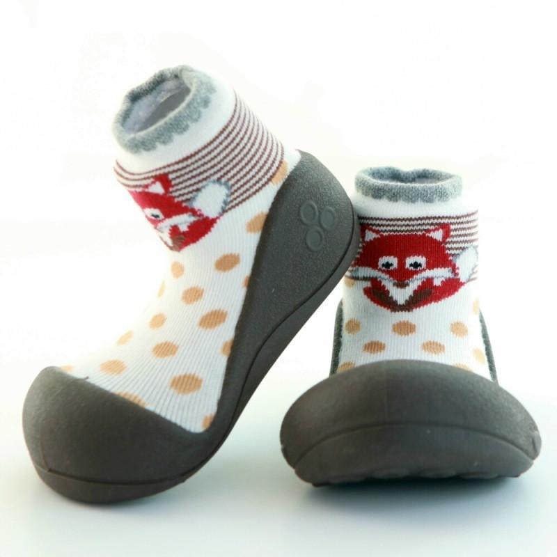 快樂學步鞋-褐底狐狸- M