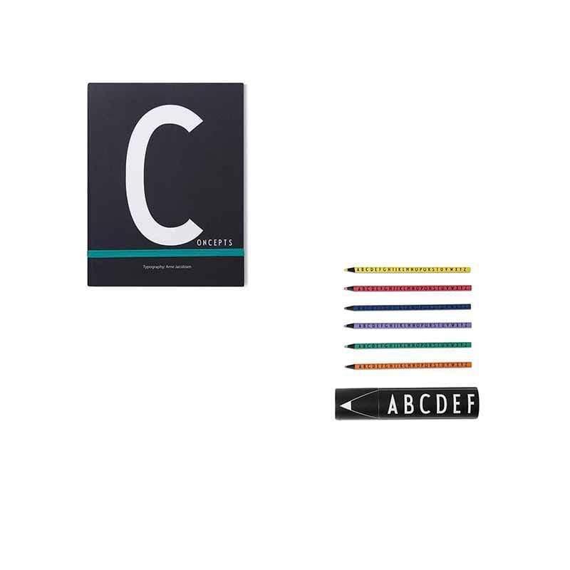 筆記本C+abc色鉛筆組