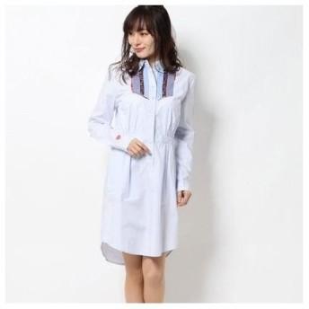 デシグアル Desigual DRESS LONG SLEEVE VEST_SUIZA (ブルー)