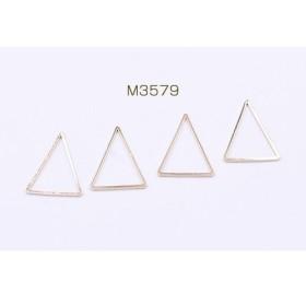 M3579 60個 フレームパーツ 三角形 19×25mm ゴールド 3x【20ヶ】
