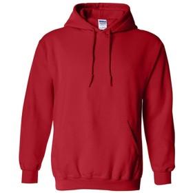 ファッションメンズボーイズTシャツパーカープルオーバーセーターシャツセーター長袖ヘビーフード付き秋冬スウェット Fashion clothing (Color : Red, Size : M)