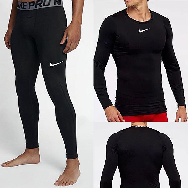 NIKE PRO耐吉速乾健身衣838078緊身褲703098上衣健身長袖內衣衛衣內搭褲緊身衣運動褲/澤米