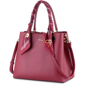 GY ショルダーバッグ、ハンドバッグ秋のファッション雰囲気レディースリボンハンドバッグ大容量ショルダーメッセンジャーバッグ (Color : Red)