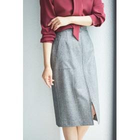 BOSCH(ボッシュ)/[WEB限定商品]ヘリンボーンフロントジップスカート
