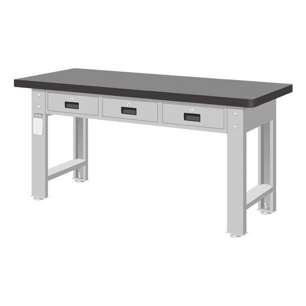 橫三抽屜工作桌 天鋼板 耐衝擊 耐磨 耐酸鹼 耐高溫 耐油 美觀易清理 長度1500/1800 mm二種尺寸選擇【可力爾】
