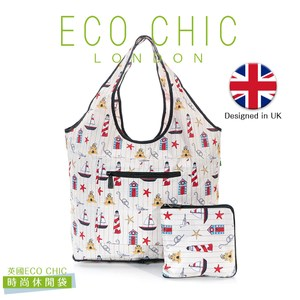 英國ECO CHIC時尚可折疊休閒袋-海洋白