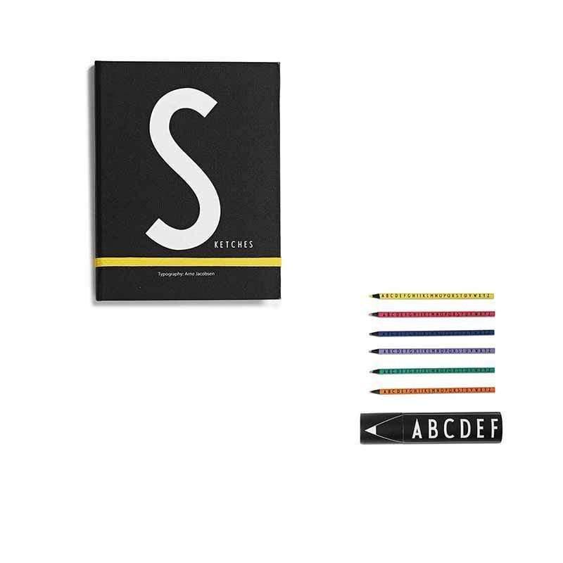 筆記本S+abc色鉛筆組