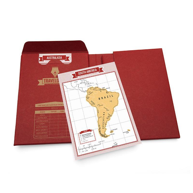 地圖刮刮樂 - 旅遊雜誌 - 紅色