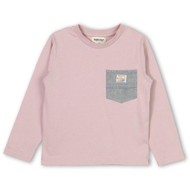 RADCHAP ポケット付長袖Tシャツ(ピンク)【返品不可商品】