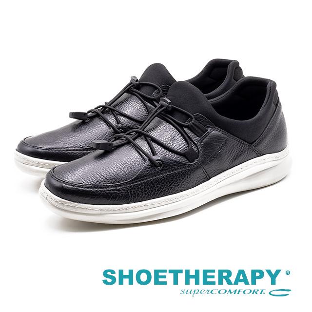 SAPATOTERAPIA 巴西男士皮革直套運動風休閒鞋 男鞋 黑 AA2-43304-01