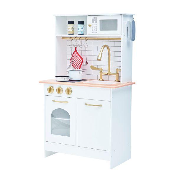 Teamson 波士頓玩具廚房|廚具組-白金 (附8件配件)【麗兒采家】