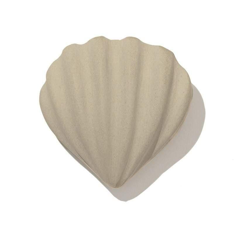 乾燥塊 海貝(波紋) - 綠色