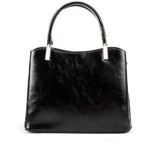 婦人用バッグ 女性のハンドバッグの財布ショルダーバッグ調節可能なPUレザーのショルダーバッグメッセンジャー黒母キャビンと贈り物 トレンディな女性 (Color : Black, Size : 24.5x17x10cm)
