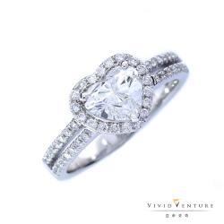 亞帝芬奇 GIA1克拉 FSI2 鑽石 戒指 真心喜悅 18K金台