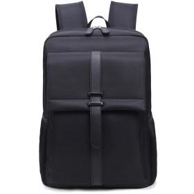Nwn メンズビジネストラベルバッグバックパックコンピュータバッグ学生ショルダーバッグ (Color : Black)