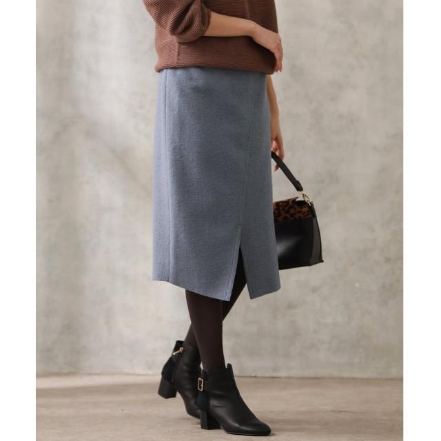 Gready Brilliant 圧縮Wアシメタイトスカート75(グレイッシュブルー)【返品不可商品】