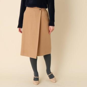 クチュール ブローチ Couture brooch ライトメルトンラップ風スカート (キャメル)