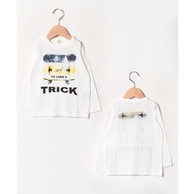 JEANS-b2nd TRICKロングTシャツ(オフホワイト)【返品不可商品】