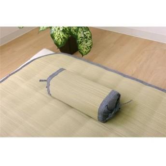 国産無染土い草 枕/ピロー 〔約30cm×15cm〕 日本製 吸湿性 蒸れにくい 臭い軽減仕様 『デニム素肌草 角枕』 〔寝室〕