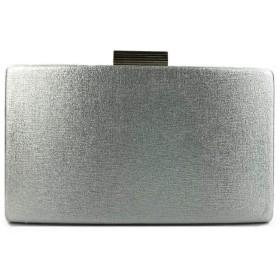パーティーバッグ 利用可能なウェディングパーティーフォーマル行事複数の色のために女性のイブニングハンドバッグでAチェーンストラップイブニングバッグ財布PUレザー (色 : Silver, Size : Free size)