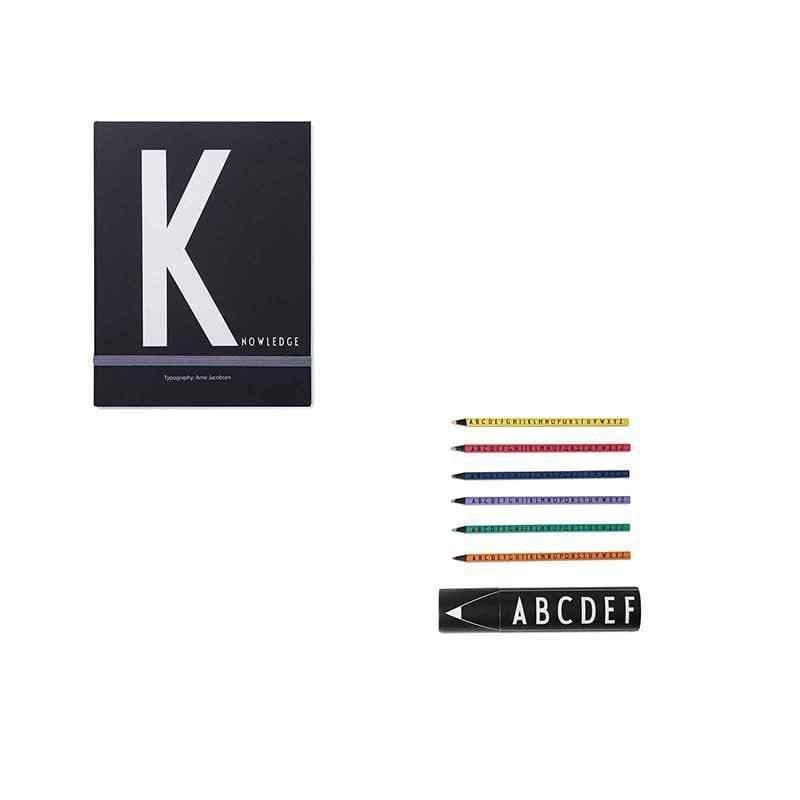 筆記本K+abc色鉛筆組