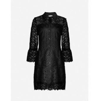 サンドロ SANDRO レディース ワンピース シャツワンピース ワンピース・ドレス Sylvia collared lace shirt dress BLACK