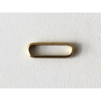 8個帯留め金具用 甲丸つなぎカン 内径14mm 真鍮