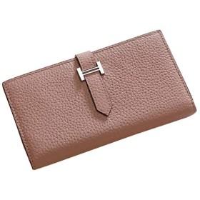 YX 財布、女性の財布長財布ハンドバッグレザー大容量マルチカードレザーカードパッケージ (Color : Pink)