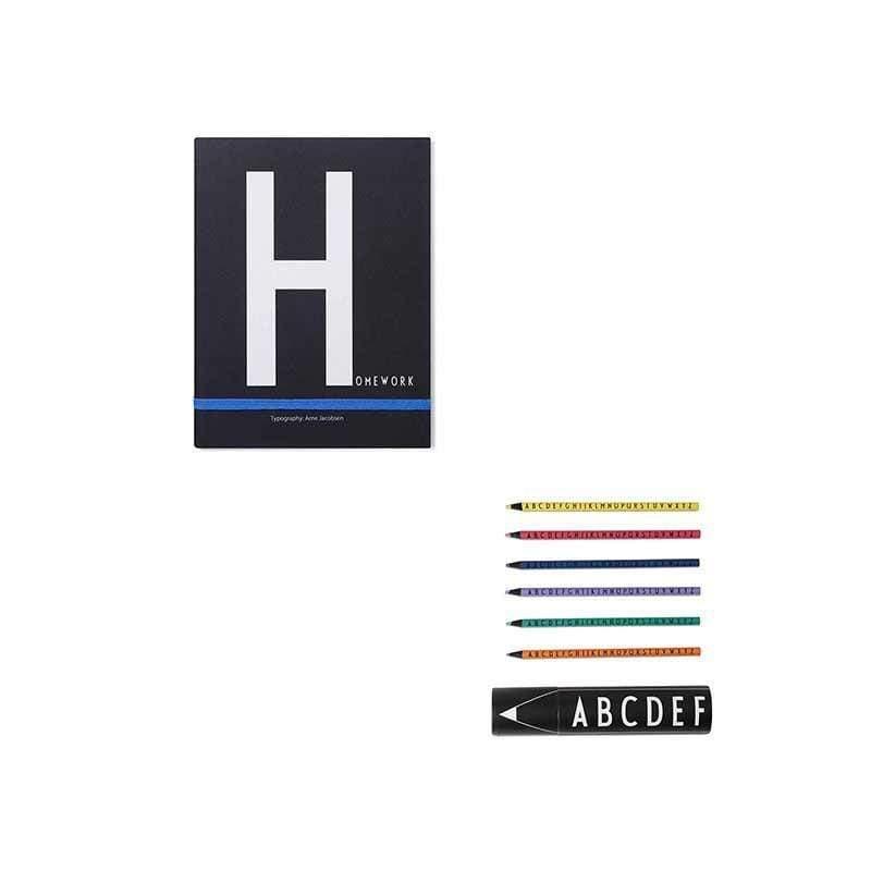 筆記本H+abc色鉛筆組