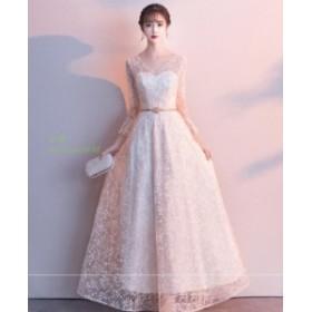 ロング 女性 結婚式 マキシワンピ ワンピース ウェディングドレス パーティードレス 二次会 花嫁 可愛い ブライダル 素敵 プリンセスライ