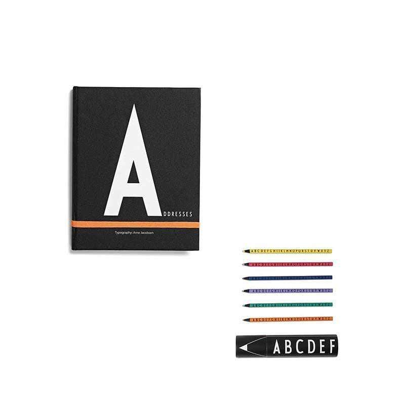 筆記本A+abc色鉛筆組