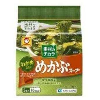 東洋水産 マルちゃん 素材のチカラ めかぶスープ 5食×6入