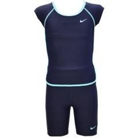 10%OFFクーポン対象商品 スクール水着 キッズ ジュニア スイムウェア 女の子 ナイキ NIKE ガールズ ショートスリーブセパレーツ 袖付き 子供用 120-160サイズ 水泳 スイミング プール 体育 学校
