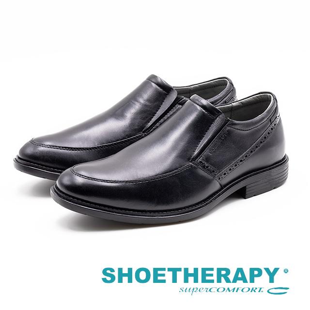 SAPATOTERAPIA 巴西男士 直套懶人皮鞋 黑 AA2-42904-01